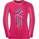 Jack Wolfskin Shoreline Maglietta a maniche lunghe Bambino rosa